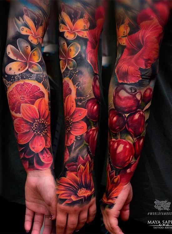 Значение татуировок цветов