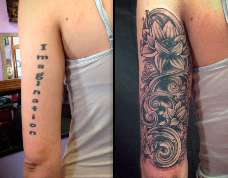 интересные способы перекрытия татуировок 36 фото