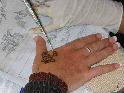 Как дома сделать временную татуировку без хны