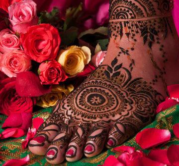 6 Необычных татуировок хной на ногах