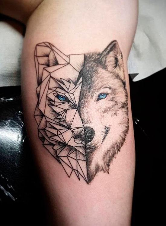 Маленькие тату волка 26
