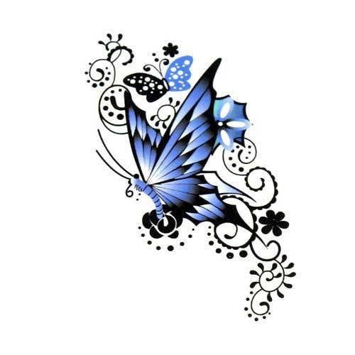 Эскиз татуировки бабочки (1)