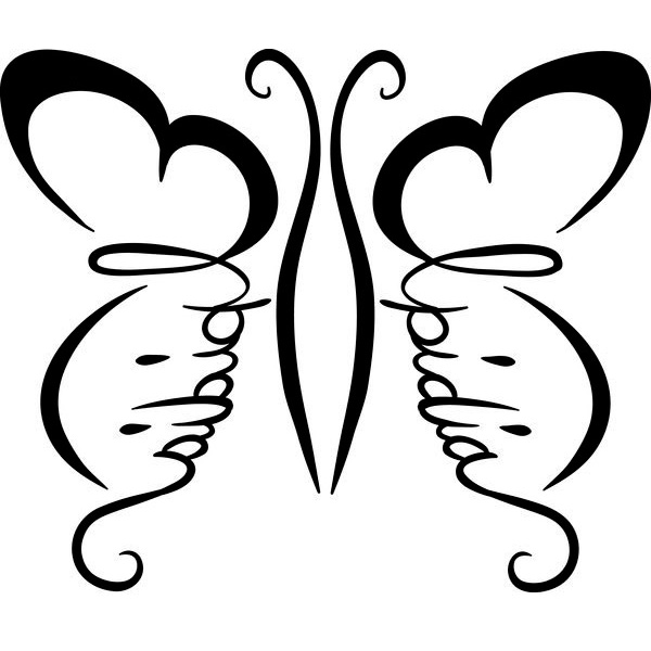 Эскиз татуировки бабочки (10)