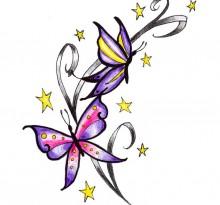 Эскиз татуировки бабочки (15)