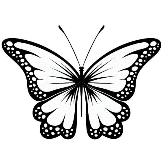Эскиз татуировки бабочки (16)