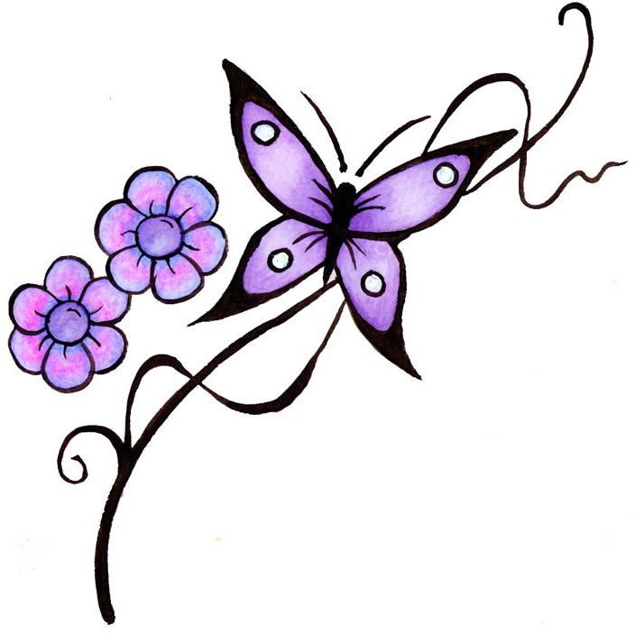 Эскиз татуировки бабочки (17)
