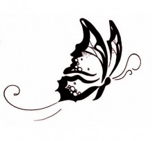 Эскиз татуировки бабочки (18)