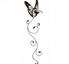 Эскиз татуировки бабочки (19)