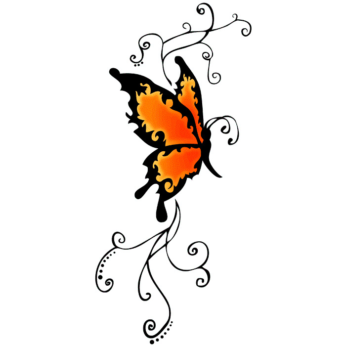 Эскиз татуировки бабочки (2)