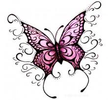 Эскиз татуировки бабочки (20)