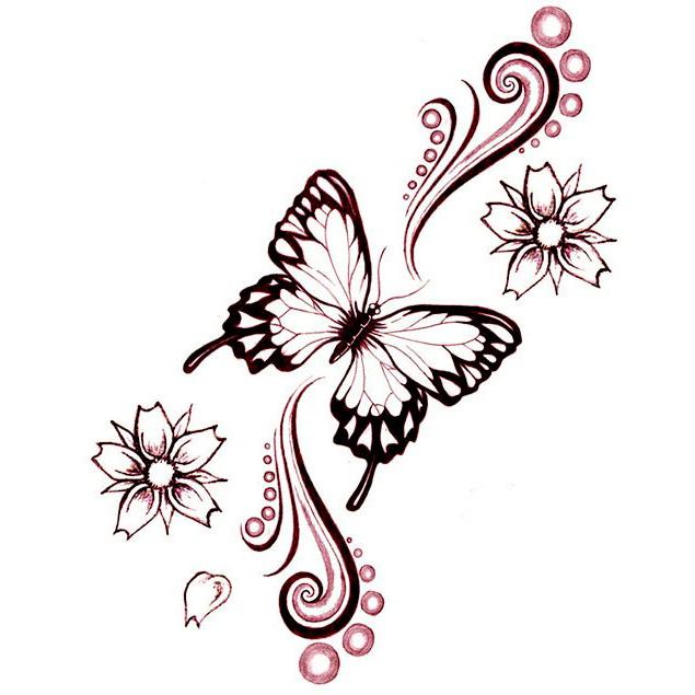 Эскиз татуировки бабочки (21)