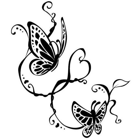 Эскиз татуировки бабочки (22)