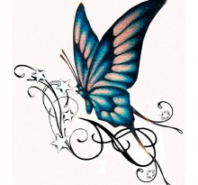 Эскиз татуировки бабочки (23)