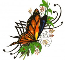 Эскиз татуировки бабочки (24)