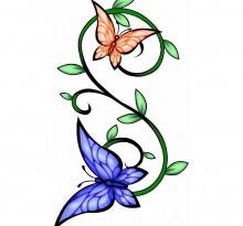 Эскиз татуировки бабочки (26)