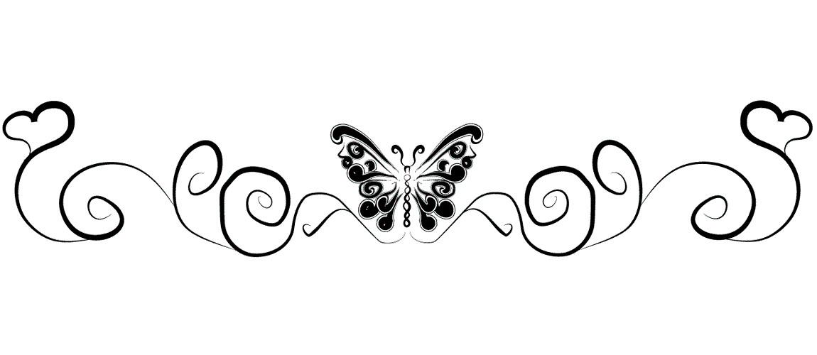 Эскиз татуировки бабочки на пояснице
