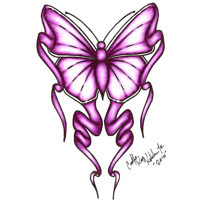Эскиз татуировки бабочки (3)