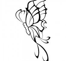 Эскиз татуировки бабочки (37)