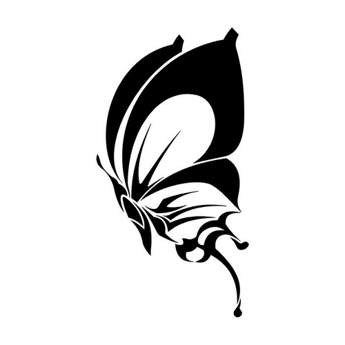 Эскиз татуировки бабочки (39)