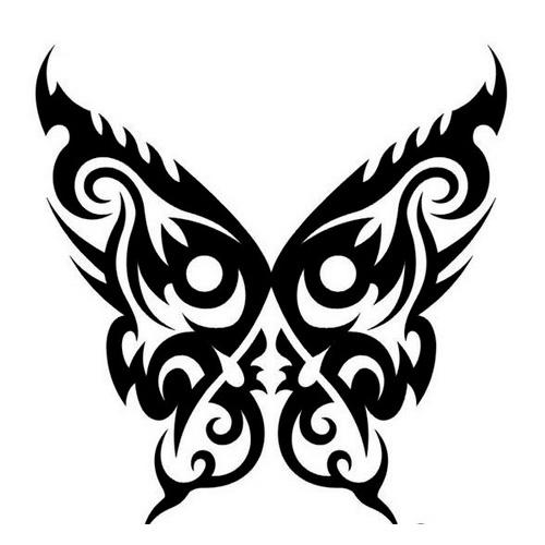 Эскиз татуировки бабочки (40)