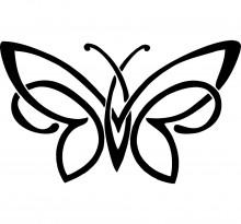 Эскиз татуировки бабочки (42)