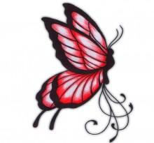 Черно-красный эскиз бабочки