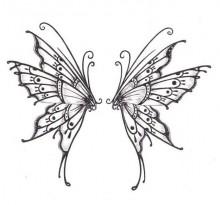 Эскиз татуировки бабочки (45)