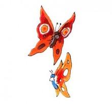 Эскиз двух оранжевых бабочек