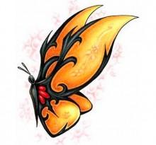 Эскиз татуировки бабочки (5)