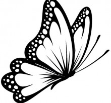 Эскиз татуировки бабочки (9)