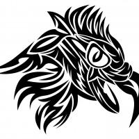 Черный эскиз головы орла