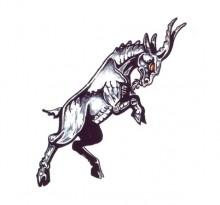 Эскиз биомеханической тату козел