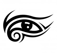 Эскиз глаза в египетском стиле