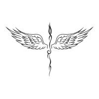 Эскиз тату крыльев