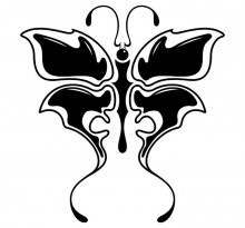 Эскиз татуировки бабочки (100)