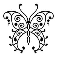 Эскиз татуировки бабочки (101)