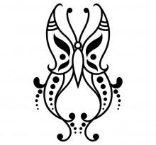 Эскиз татуировки бабочки (102)