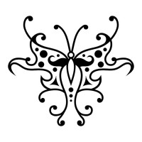Эскиз татуировки бабочки (103)