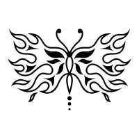 Эскиз татуировки бабочки (104)