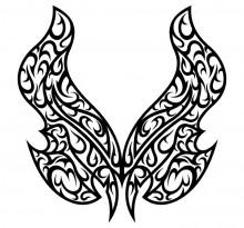 Эскиз татуировки бабочки (53)