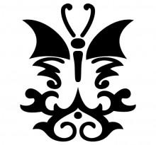 Эскиз татуировки бабочки (54)
