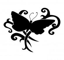 Эскиз татуировки бабочки (56)