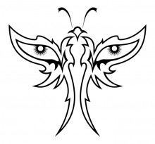 Эскиз татуировки бабочки (58)