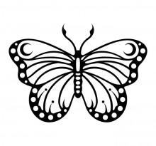 Эскиз татуировки бабочки (64)