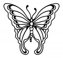 Эскиз татуировки бабочки (65)