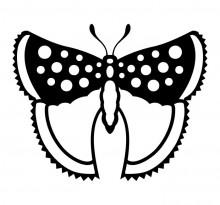 Эскиз татуировки бабочки (66)
