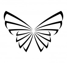 Эскиз татуировки бабочки (71)