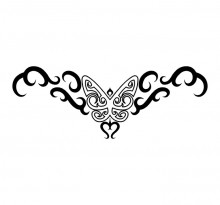 Эскиз татуировки бабочки (76)