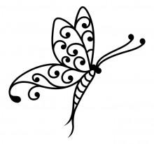Эскиз татуировки бабочки (80)