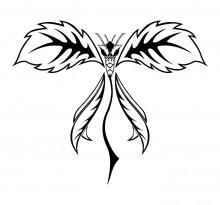 Эскиз татуировки бабочки (82)